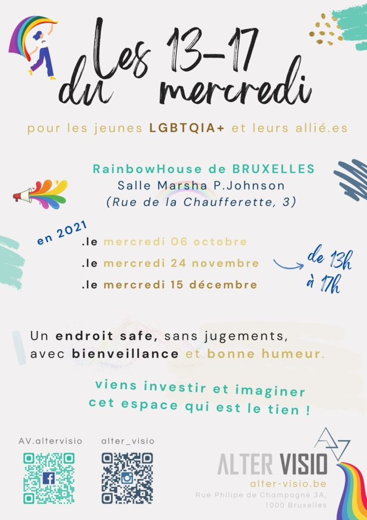 13-17 d'Alter Visio à la Rainbow House de Bruxelles